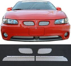 Ccg Mesh Grill Inserts For 1997-03 Grand Prix Gt Gtp Grille Diamond Extreme 4pc