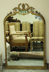 Antique Neoclassical Adam Style Mirror With Wedgwood Style Panel 58
