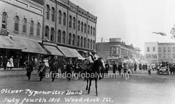 Photo 1910 Woodstock Il July 4th Oliver Typewriter Band