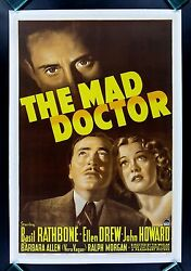 The Mad Doctor Cinemasterpieces Vintage Hollywood Movie Poster 1940 Physician Md