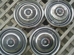 1969 69 Vintage Chrysler Dodge Plymouth Three Hundred 300 Hubcaps Wheel Covers