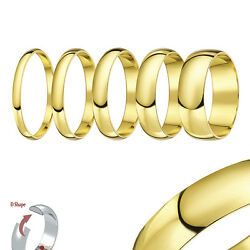 18ct Yellow Gold Ring Extra Heavy D Shaped Wedding Ring Band