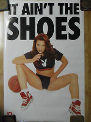 Sexy Girl Dorm Poster Playboy Referee Red High Top Sneakers quot;It Ain#x27;t The Shoesquot;