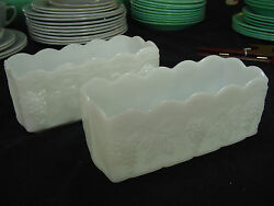 Fire King/ Fireking Vintage Ware Anchor Hocking Rectangle Relish Serving Dishes