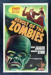Revolt Of The Zombies Cinemasterpieces Zombie Movie Poster Monster Horror 1947