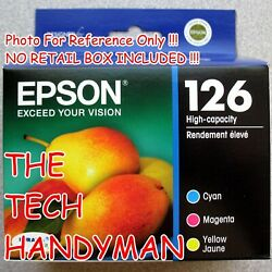 3-pack Epson Genuine 126 Color Ink No Retail Box For Workforce Wf-7510 Wf-7520