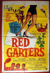 Red Garters Western Rosemary Clooney 1954 Jack Carson 1sh Us Movie Poster