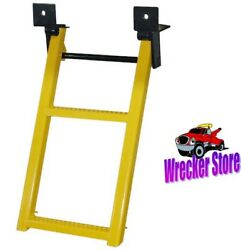 Retractable Truck, Trailer Step, Ladder, 2 Rungs. Yellow. For Car Hauler Too