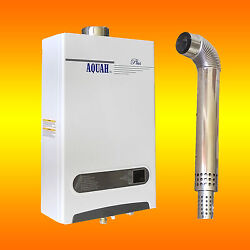 Aquah Plus Direct Vent Natural Gas Tankless Gas Water Heater 2.7 Gpm Whole House