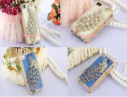 Beautiful 3d Diamond Peacock I Phone Case Cover For Apple Iphone 4and4s