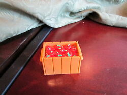 Fisher Price Little People farm zoo food crate fruit ark box red delicious truck