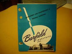Barfield Instrument Line Maintenance And Troubleshooting Pocket Manual