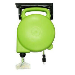 Designers Edge E316 45' Retractable Cord Reel 143 Lighted Triple Outlet