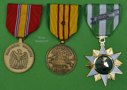 Vietnam Campaign, National Defense And Service Medal Set With 1 Battle Star Us