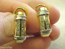 High Quality Princess Cut Diamond Earrings With French Backs And Post Make Offer