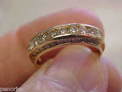 Beautifull 1.00 Ctw Diamond Ring Band 14k Gold Size 6-1/2 Mint Cond Make Offer