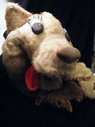 """Antique Wolf Hand Puppet Large 28"""" Inch 71 Cm From A.p.a. Studios Lee Howard"""