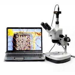 Amscope Sh-2ty-c2-10m 10x-60x Inspection Stereo Zoom Microscope + 10mp Camera