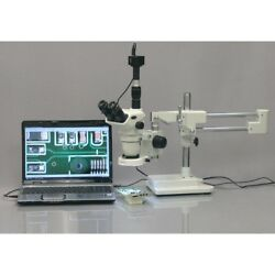 Amscope 2x-45x Boom Stereo Microscope With 80-led Ring Light + 1.3mp Camera