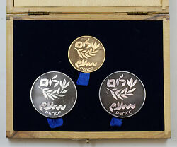 1980 Israel Gold And Silver Commemorative Coins, 32nd Independence Day