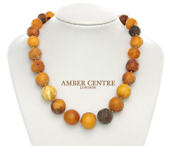 Genuine Antique German Baltic Amber Bead Necklace Large - A0049 - Rrpandpound1295