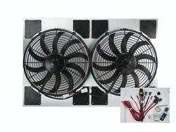 Dual Spal Fan And Shroud Assembly Incl. Adjustable Thermostat [50-187282-13shp-0]