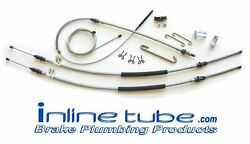 68-72 Gto Turbo T 400 Emergency Parking Brake Cable Set Kit Stainless Sbsg6802