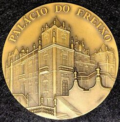 Art / Palace Of The Freixo / Nasoni / Coat Of Arms / High Grade Bronze Med M8a