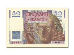 [53485] France 50 Francs 50 F 1946-1951 And039and039le Verrierand039and039 1946 Km 127a