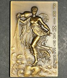 Semi Nude Woman / Water / Spring Bronze Medal By V. Nuno M9.b