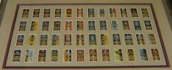 Fine Antique Framed English Military Regiment Ww 1 Insignia And Battles Card Set