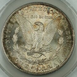 1890-s Morgan Silver Dollar Anacs Ms-62 Toned Reverse Better Coin Very Choice