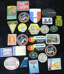 25 Travel Trunk Luggage Labels From A Time When Luggage Was Allowed On A Plane