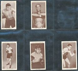 1938 Churchman Boxing Cigarette Cards Set Of 44 Out Of 50 Hv5441