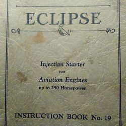1933 Eclipse Injection Starter As-1 At-1 As-5 Service Parts Manual