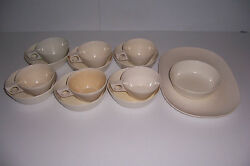 14 Piece Lot Of Vintage White Texas Ware Melamine Dishes Bowls Cups Platter