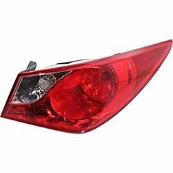 Fits 11-14 Hy Sonata Right Pass Tail Light Assembly Quarter Mounted Bulb Type
