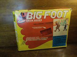 Vintage Big Foot Snow Shoes For Children From K Tel With Original Box
