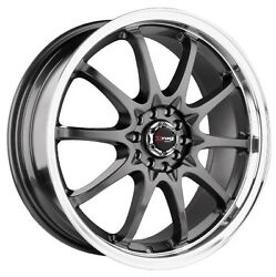 18 Drag Dr9 Gun Metal Wheels Rim 240sx 300zx Nsx