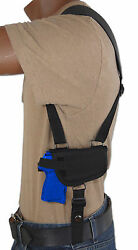 Barsony Horizontal Shoulder Holster for KelTec Taurus Sccy 380 UltraComp 9 40