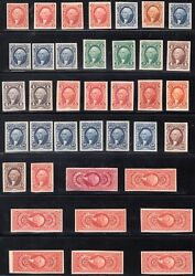 #R1P4#R101P4 (79) DIFF 1ST ISS. 1862-71 USIR PLATE PROOFS ON CARD FXF WL4618