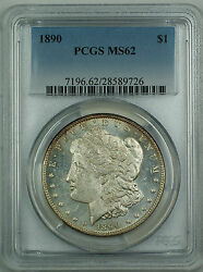 1890 Morgan Silver Dollar Coin 1 Pcgs Ms-62 Pl Prooflike