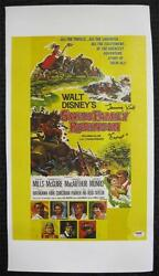 Tommy Kirk Ernst Auto Swiss Family Robinson Signed 12x18 Canvas Psa/dna Coa