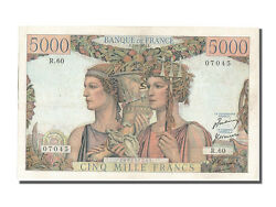 [202637] France 5000 Francs 5 000 F 1949-1957 And039and039terre Et Merand039and039 1951 Km