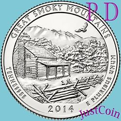 2014 Pandd Set Great Smoky Mountains National Park Quarters Uncirculated Us Mint