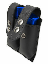 NEW Barsony Black Leather Dbl Mag Pouch for Ruger Kel-Tec MiniPocket 22 25 380