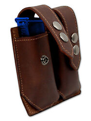 NEW Barsony Brown Leather Dbl Mag Pouch for Ruger Kel-Tec MiniPocket 22 25 380