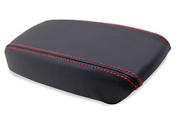 Console Armrest Leather Synthetic Cover For Acura Integra 94-01 Red Stitch