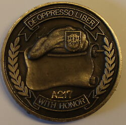 1st Special Forces Group Airborne Serial A217 Army Challenge Coin Older
