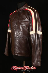 Menand039s War Of The Worlds Brown Nappa Real Leather Hollywood Hero Movie Jacket